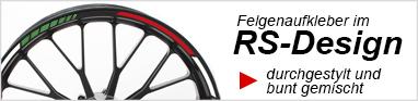 Felgenaufkleber Schweiz Felgenrandaufkleber RS Design